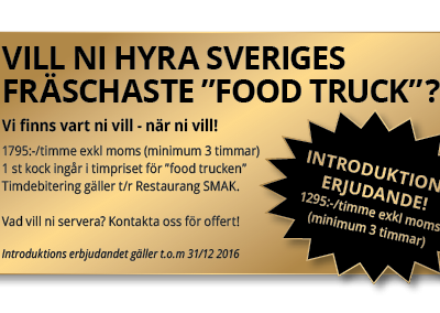 "Hyra ""food trucken"""